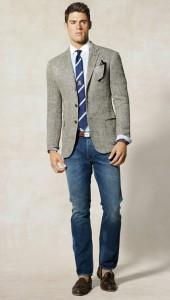джинсы и твидовый пиджак