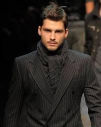мужской шарф узел аскот
