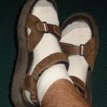 носки с сандалиями