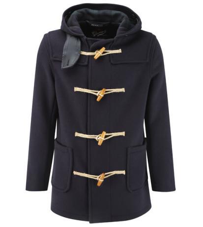 миниатюра мужское пальто с капюшоном