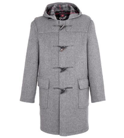 gloverall мужское серое пальто