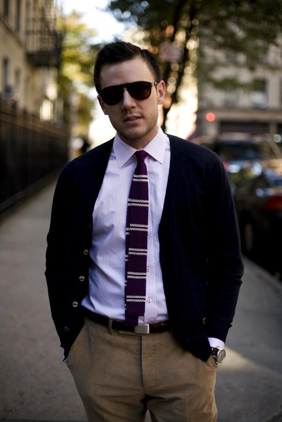 вариант ношения галстука