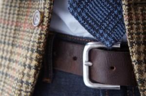 длина галстука до пряжки