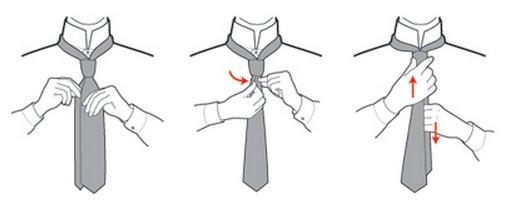как сделать углубление на галстуке