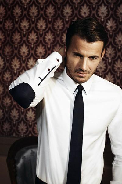 мужской черный галстук
