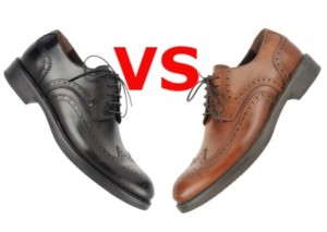 черные или коричневые ботинки