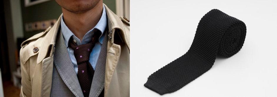 шелковый вязаный мужской галстук
