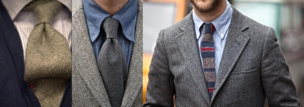шерстяной мужской галстук 2