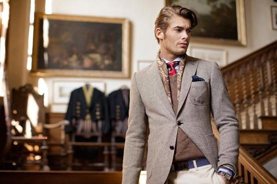мужскй пиджак и шарф