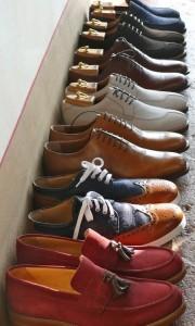 цветные мужские ботинки