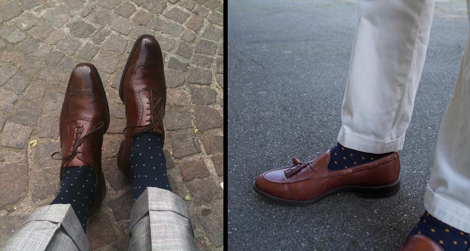 пример носков в горох
