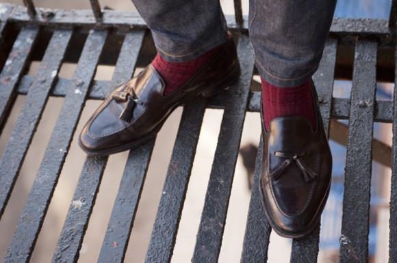 бордовый цвет носков
