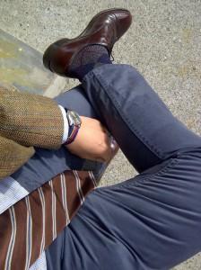 носки с ромбовидным узором