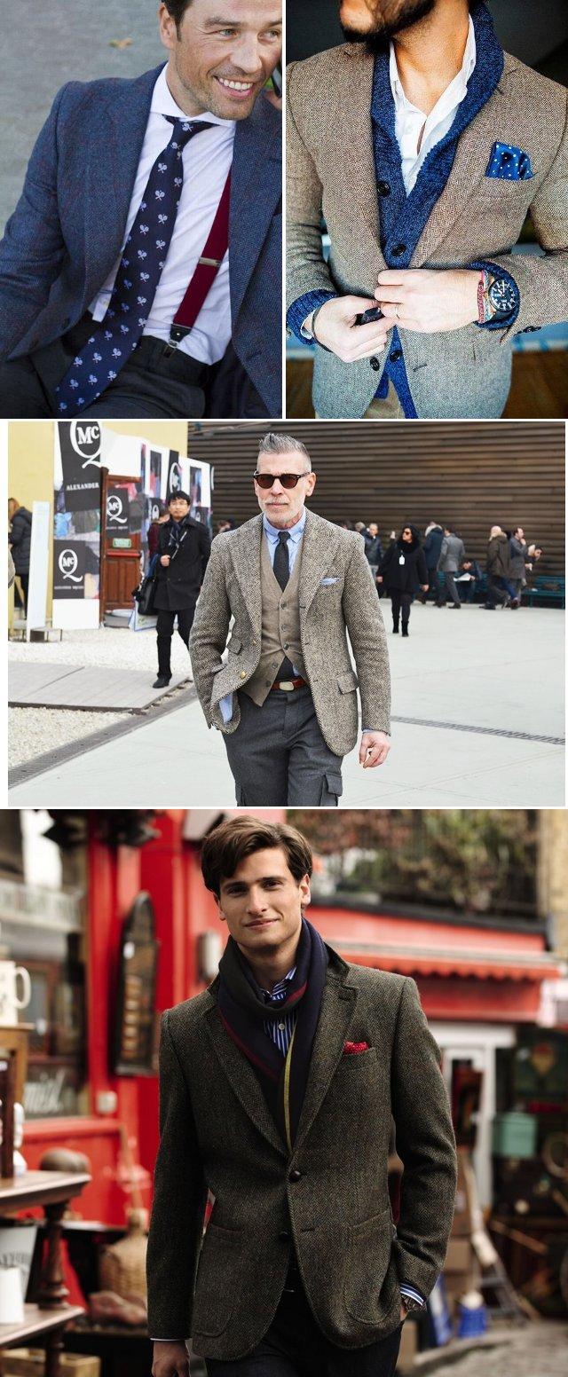 мужской твидовый пиджак