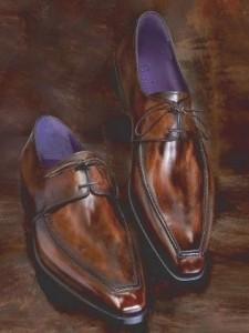 патина на туфлях