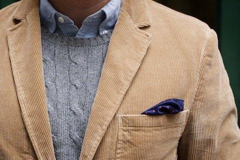 мужской свитер с пиджаком