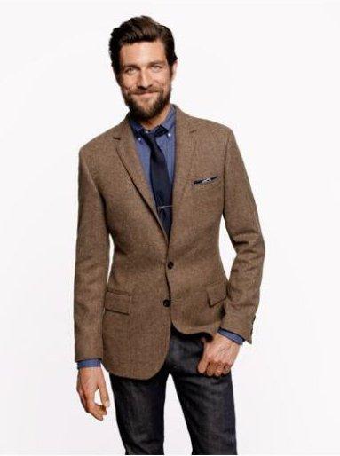 пиджак рубашка галстук джинсы