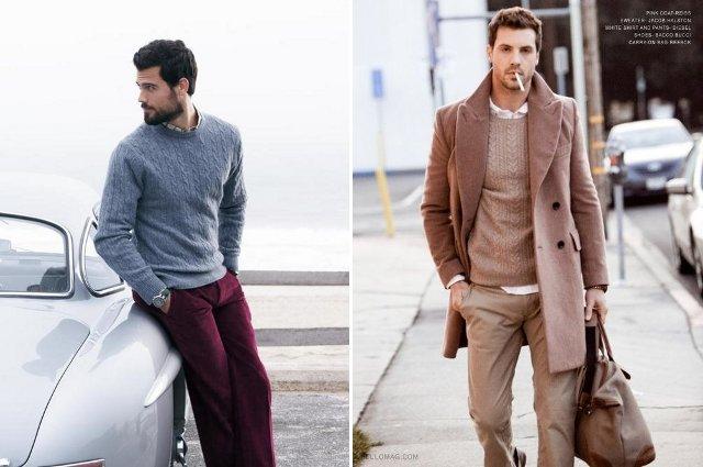 свитер арановый узор