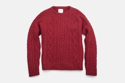 свитер в косы