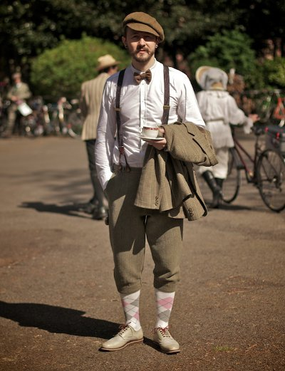 men fashion tweed run