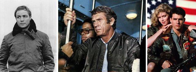 flight jacket in cinema