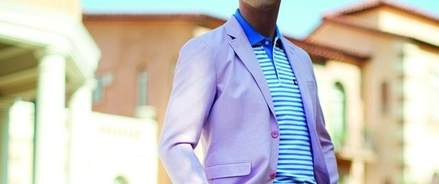 polo shirt with sport coat