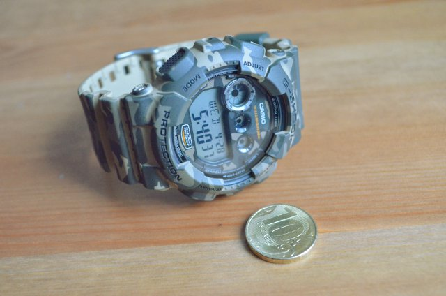 Касио g-shock 120cm comparing size