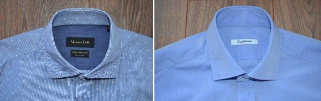 Сравнение воротников рубашек