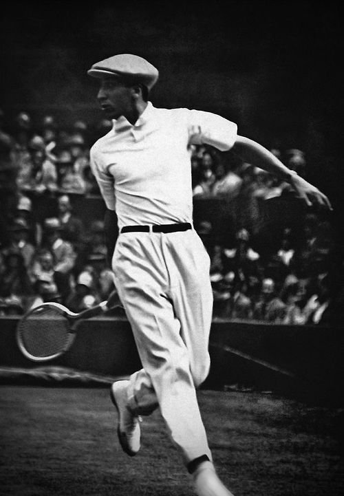 René Lacoste à Wimbledon en 1928.