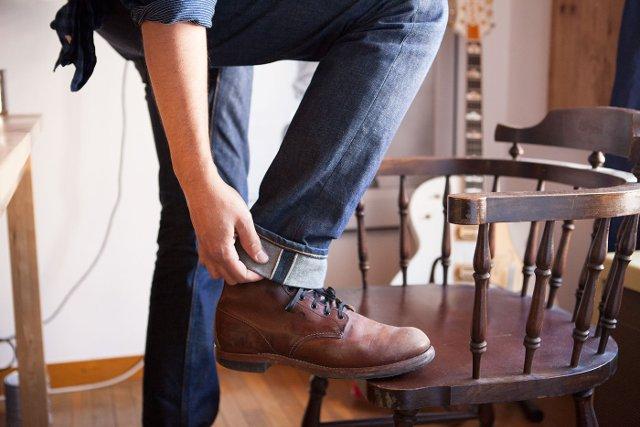 Потертости на рабочих ботинках