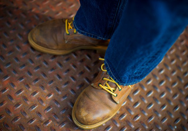 Work boots distressed