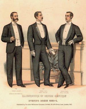 Мужская мода конца 19 века