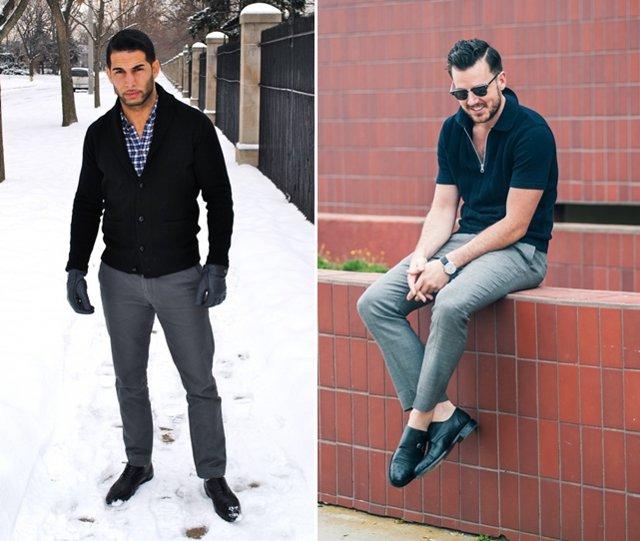 Серый и черный - мужской гардероб