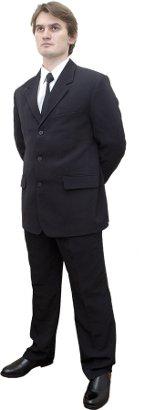 Черный костюм охранника