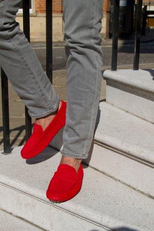 красные мокасины фото мужские