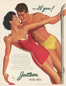 Винтажная реклама мужских плавок Jantzen 1933 год