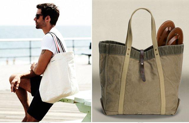 Пляжная мужская сумка