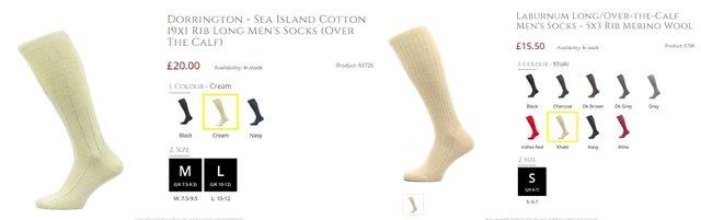 Кремовые носки Pantherella