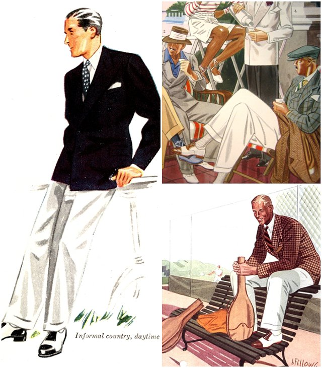 Мужская мода 30-х годов