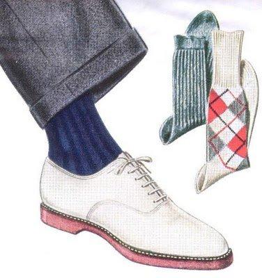 Носки с белой обувью