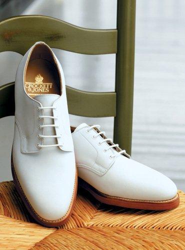 Светлые ботинки Crockett and Jones