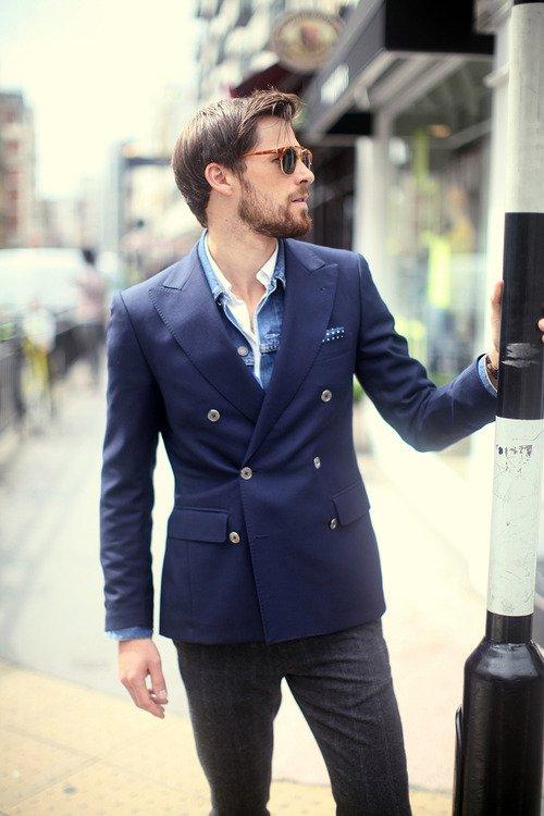 Джинсовка с пиджаком