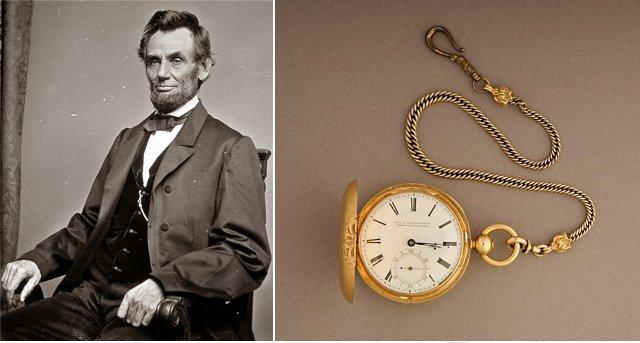 Авраам Линкольн и его часы (1858 г.)
