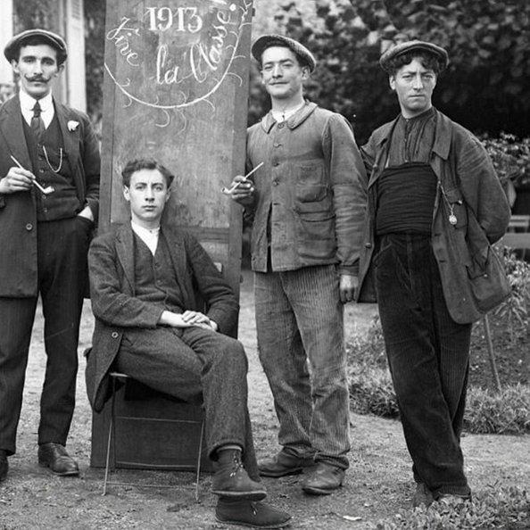 Французские рабочие, 1913 год