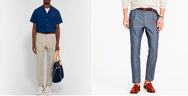 Tapered-Cotton-Trousers
