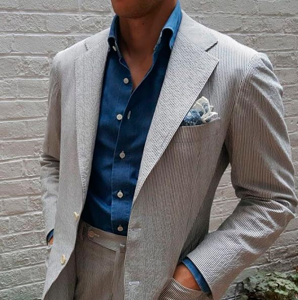 Нагрудный-платок-костюм-сирсакер