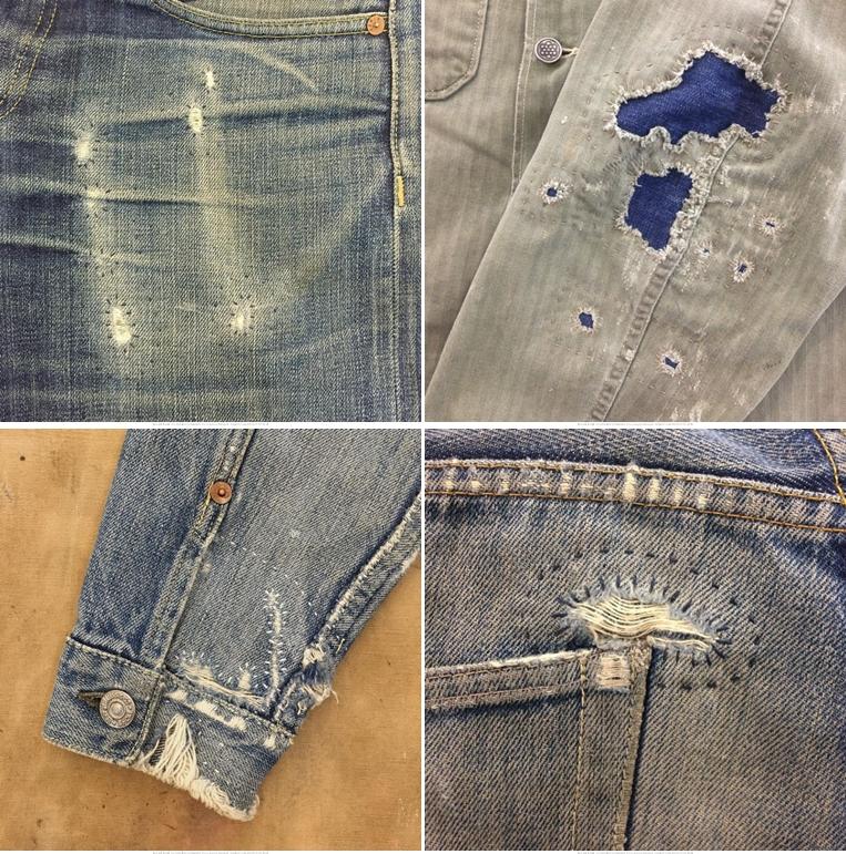 Заплатки на одежде рабочий стиль