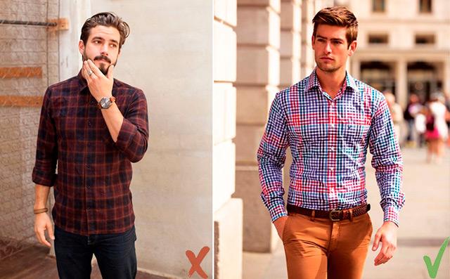 Как-одеваться-невысоким---заправленная-рубашка