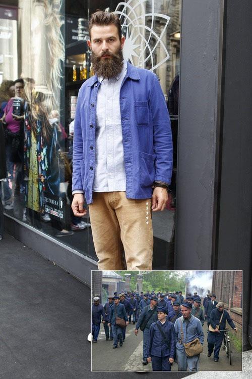 Рабочая куртка французских рабочих