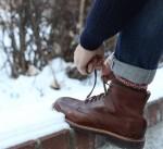 Ботинки J.Crew и носки CHUP
